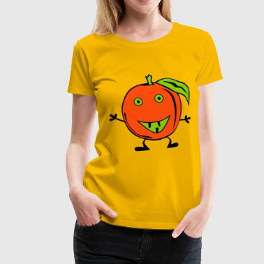 lustige Orange - Premium-T-shirt dam