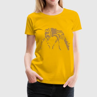tribal gazelle wildes tier designs - Frauen Premium T-Shirt