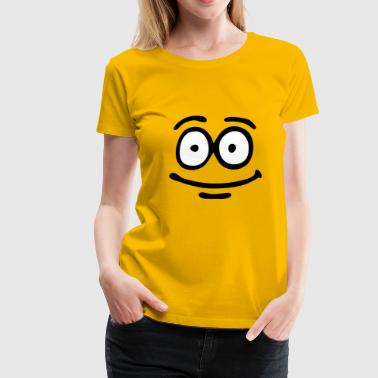 Funny Face, Cartoon Face, Trickfilm, Smiley - Vrouwen Premium T-shirt