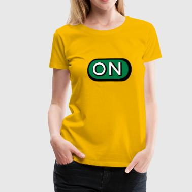 On Button - Women's Premium T-Shirt