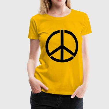 peace sign - Premium-T-shirt dam