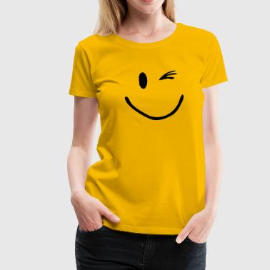 Zwinker Smiley  - Frauen Premium T-Shirt