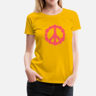 Hippie PEACE SYMBOL - symbool van de vrede, c, symbol of freedom, flower power, hippie, 68er movement, Woodstock - Vrouwen Premium T-shirt