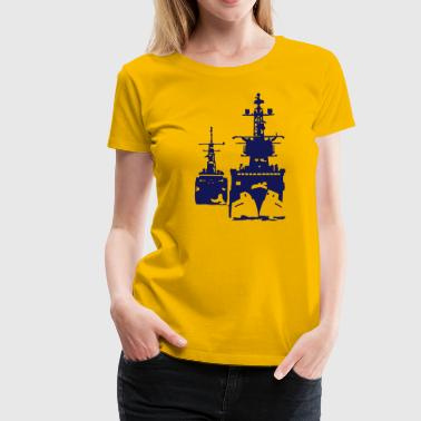 NAVY ship - Premium-T-shirt dam