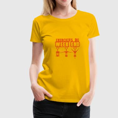 exercices week end tire bouchon gym 1912 - T-shirt Premium Femme
