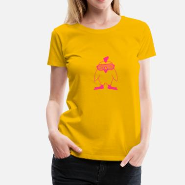 Cock Sunglasses Party Chick - Women's Premium T-Shirt