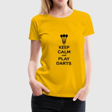 Keep Calm And Play Darts - Premium-T-shirt dam
