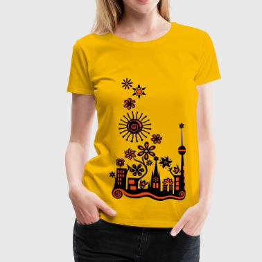 Guerilla Gardening!, c, Auf die Plätze - Saatbombe los! Let's fight the filth with forks and flowers! - Vrouwen Premium T-shirt