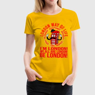 Londi London Mascot Design No 10 - Camiseta premium mujer