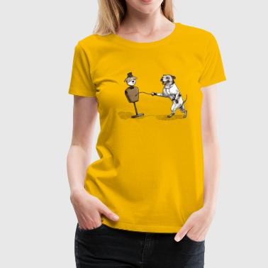 Staffy Dog Staffie Fencer - Women's Premium T-Shirt