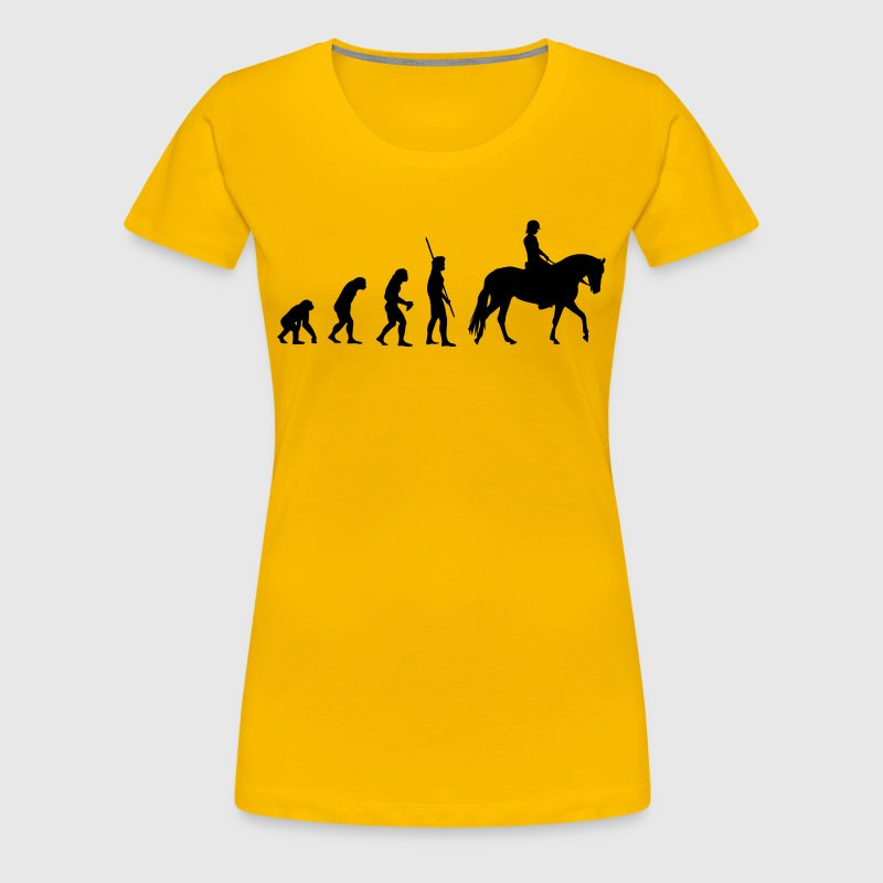 Evolution horse woman - Women's Premium T-Shirt