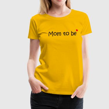 Logo for expectant moms, mothers - Women's Premium T-Shirt