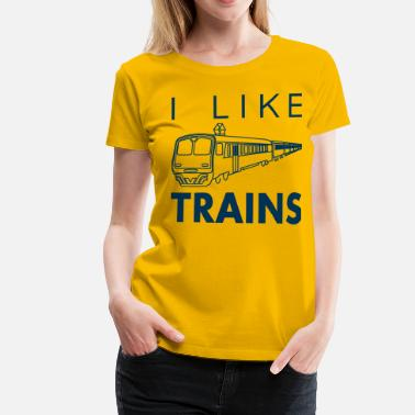 Asdf Movie I like trains - Women's Premium T-Shirt