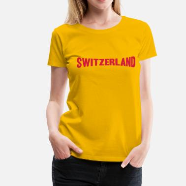 Text Switzerland Text Logo - Naisten premium t-paita