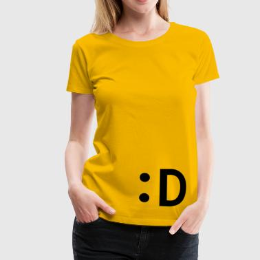 :D smiley  lachen - Frauen Premium T-Shirt