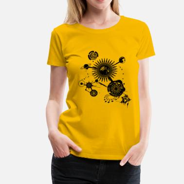 Surrealismus Planetenkonstellation - Frauen Premium T-Shirt