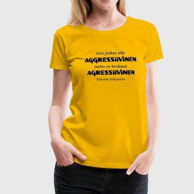 Police linguistique agressive - T-shirt Premium Femme