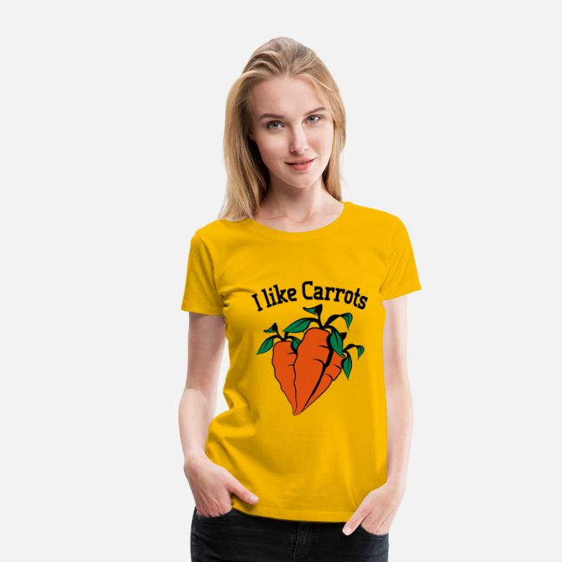 Cook T-Shirts - Vegetables I like carrots organic garden - Women's Premium T-Shirt sun yellow