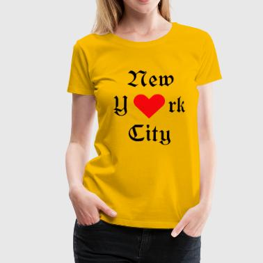 New York City, York, New York, City, USA, Iloveyou, Heart - Women's Premium T-Shirt