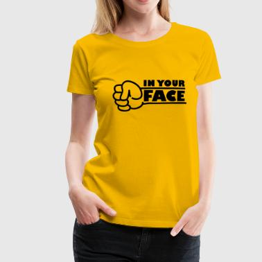 In Your Face Punch - Women's Premium T-Shirt