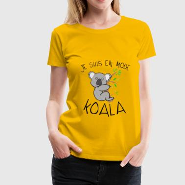 koala citation en mode dort dormir humour - T-shirt Premium Femme