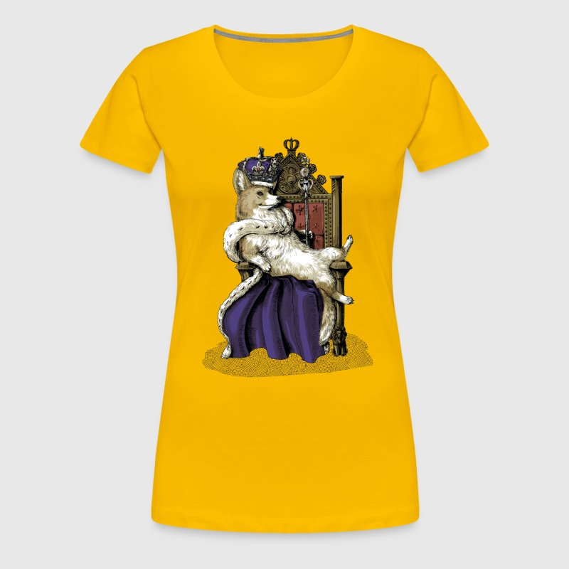 Queen Corgi - Women's Premium T-Shirt