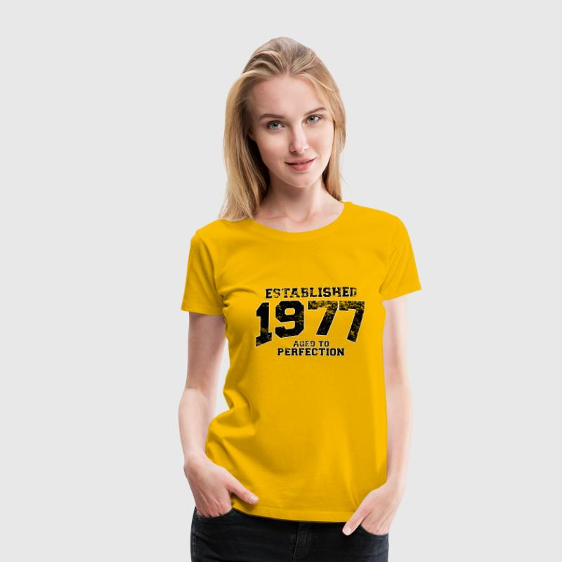 established 1977 - aged to perfection(uk) - Women's Premium T-Shirt