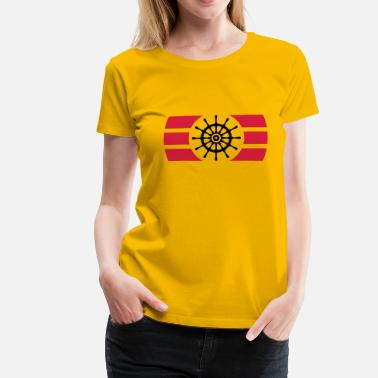 Ships Wheel Ship Steering Wheel Logo - Women's Premium T-Shirt
