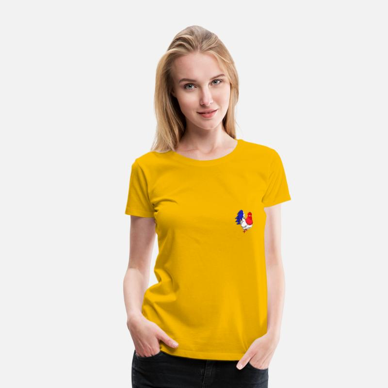 France T-Shirts - coq France - Women's Premium T-Shirt sun yellow