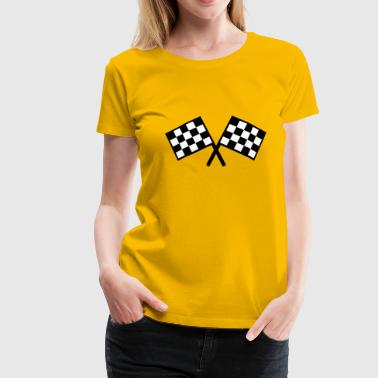 flags - car race - Women's Premium T-Shirt