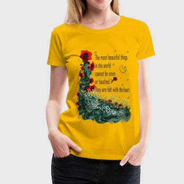 Felt with the heart - Women's Premium T-Shirt