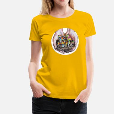 Magic Mushroom Psychedelic Magic Mushrooms - Women's Premium T-Shirt