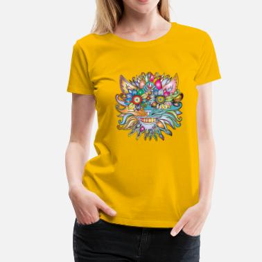 Flower Power anthropomorphic Lore - Premium-T-shirt dam