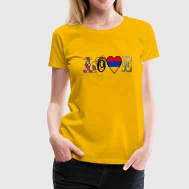 Love Armenia Black - Frauen Premium T-Shirt