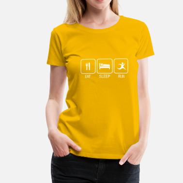 Volkslauf Eat, Sleep, Run - Frauen Premium T-Shirt
