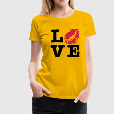 Love Kuss - Frauen Premium T-Shirt