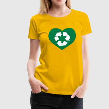 Recycling Herz - Frauen Premium T-Shirt
