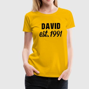David est 1991 - Frauen Premium T-Shirt