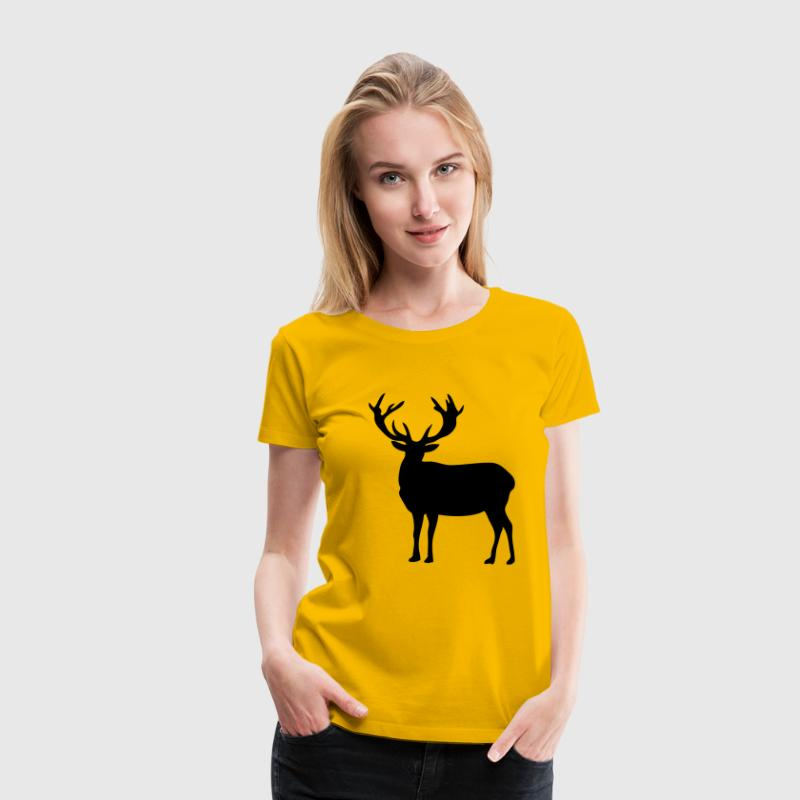 cerf deer silhouette ombre shadow2 - T-shirt Premium Femme