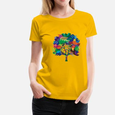 Overbirded Tree - Dame premium T-shirt