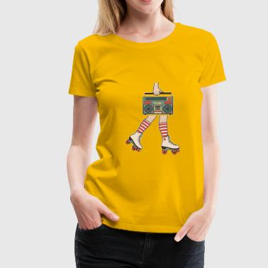 80er Roller Skating Disco Girl - Frauen Premium T-Shirt
