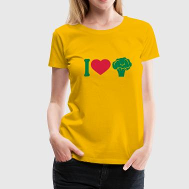 I love Herz broccoli vegetable logo - Women's Premium T-Shirt