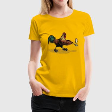 Cockerel Egg and Spoon - Frauen Premium T-Shirt