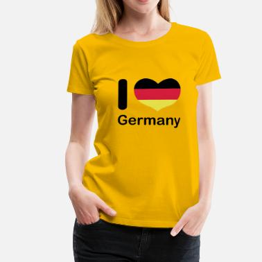 i_love_germany - Frauen Premium T-Shirt