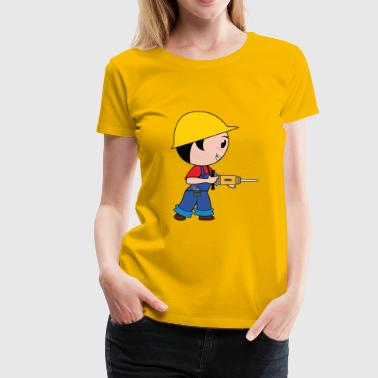 construction worker construction worker road construction tierfb - Women's Premium T-Shirt