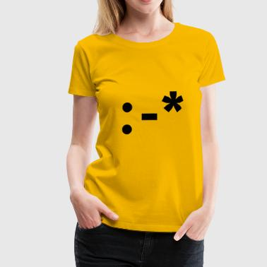 :-* smiley kuss - Frauen Premium T-Shirt