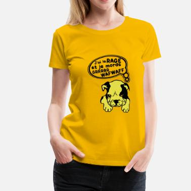 Attention Chiens chien mechant attention a la rage - T-shirt Premium Femme