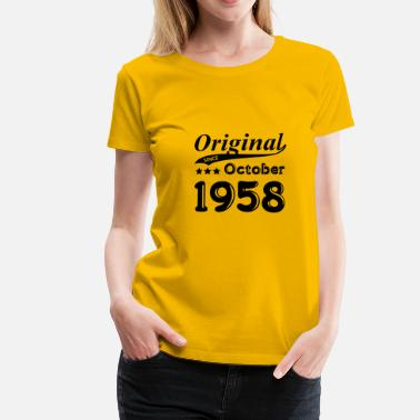 October 1958 October 1958 gift - Women's Premium T-Shirt
