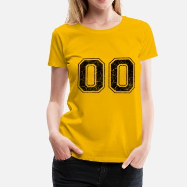 00s Number 00 in the grunge look - Women's Premium T-Shirt