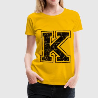 Letter K in the grunge look - Women's Premium T-Shirt